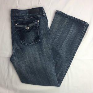Seven7 Flap Pocket Slim Boot Cut Jeans Size 16